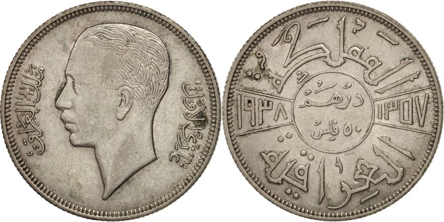 World Coins - Iraq, Ghazi I, 50 Fils, 1937, , Silver, KM:104