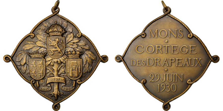 World Coins - FRANCE, History, French Third Republic, Medal, 1930, , Copper, 80,...
