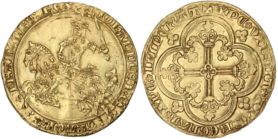 World Coins - FRANCE, Franc à cheval, , Gold, Duplessy #294, 3.71