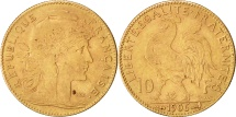 World Coins - France, Marianne, 10 Francs, 1906, Paris, Gold, KM:846, Gadoury:1017