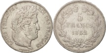 France, Louis-Philippe, 5 Francs, 1832, Nantes, VF(20-25), Silver, KM:749.12