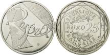 World Coins - France, 25 Euro, Respect, 2013, MS(63), Silver