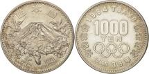 Japan, Hirohito, 1000 Yen, 1964, AU(55-58), Silver, KM:80