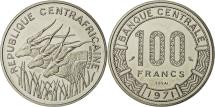 World Coins - Coin, Central African Republic, 100 Francs, 1971, Paris, MS(65-70), Nickel