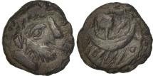 Bellovaci, Bronze à la galère, VF(30-35), Bronze, Delestrée:701