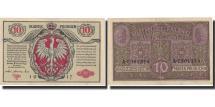 World Coins - Banknote, Poland, 10 Marek, 1917, 1917, KM:12, EF(40-45)