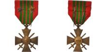 World Coins - France, Croix de Guerre de 1939-1945, Medal, 1939, Very Good Quality, Bronze, 38