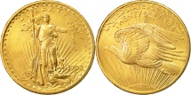 Us Coins - United States, Saint-Gaudens, $20, Double Eagle, 1908, Philadelphia, Gold,KM 131
