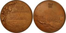 World Coins - France, Medal, 6 Juin 44, 1969, Coeffin, MS(60-62), Bronze