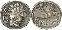 Ancient Coins - Coin, Spain, Barskunes, Denarius, EF(40-45), Silver, SNG BM Spain:904-7
