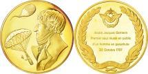 World Coins - France, Medal, L'Histoire de la Conquête de l'Air, André Jacques Garnerin