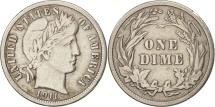 United States, Barber Dime, Dime, 1911, U.S. Mint, Philadelphia, EF(40-45)