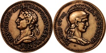 World Coins - France, Medal, Domitien, History, MS(65-70), Bronze