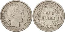 United States, Barber Dime, Dime, 1914, U.S. Mint, Denver, EF(40-45), Silver