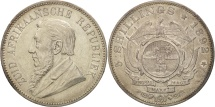 World Coins - South Africa, 5 Shillings, 1892, AU(55-58), Silver, KM:8.1