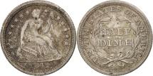 Us Coins - United States, Seated Liberty Half Dime, 1842, Philadelphia, AU, KM:62.2