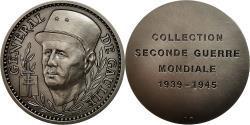 World Coins - France, Medal, Seconde Guerre Mondiale, Général de Gaulle, MS(63), Silvered