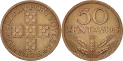 World Coins - Portugal, 50 Centavos, 1976, , Bronze, KM:596