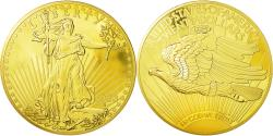 World Coins - France, Medal, Twenty Dollars Liberty, MS(65-70), Copper Gilt