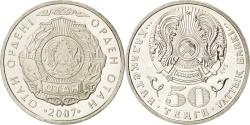 World Coins - KAZAKHSTAN, 50 Tenge, 2007, Kazakhstan Mint, KM #165, , Copper-Nickel,...