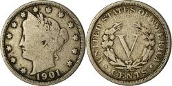 Us Coins - Coin, United States, Liberty Nickel, 5 Cents, 1901, U.S. Mint, Philadelphia