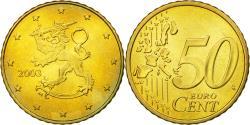 World Coins - Finland, 50 Euro Cent, 2003, , Brass, KM:103
