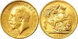 World Coins - Coin, Australia, George V, Sovereign, 1915, Melbourne, , Gold, KM:29