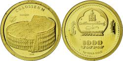 World Coins - Coin, Mongolia, Colisée, 1000 Tugrik, 2008, Proof, , Gold