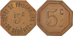 World Coins - France, 5 Centimes, , Copper, Elie #10.1, 2.70