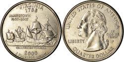 Us Coins - Coin, United States, Virginia, Quarter, 2000, Philadelphia,
