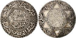 World Coins - Coin, Morocco, Moulay al-Hasan I, 5 Dirhams, 1895/AH1313, Paris,