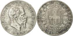 World Coins - Coin, Italy, Vittorio Emanuele II, 5 Lire, 1876, Rome, EF(40-45), Silver, KM:8.4