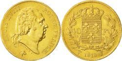Ancient Coins - Coin, France, Louis XVIII, 40 Francs, 1818, Lille, AU(50-53), Gold, KM 713.6