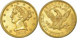 Us Coins - Coin, United States, Coronet Head, $5, 1906, Philadelphia, , Gold