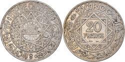 World Coins - Coin, Morocco, Mohammed V, 20 Francs, 1928/AH1347, Paris, , Silver