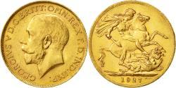 World Coins - Coin, South Africa, George V, Sovereign, 1927, AU(50-53), Gold, KM:21