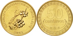 World Coins - EAST TIMOR, 50 Centavos, 2013, Lisbon, , Nickel-brass