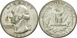 Us Coins - Coin, United States, Washington Quarter, Quarter, 1961, U.S. Mint, Philadelphia