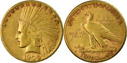 Us Coins - Coin, United States, Indian Head, $10, Eagle, 1909, U.S. Mint, San Francisco
