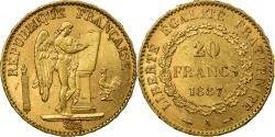 World Coins - Coin, France, Génie, 20 Francs, 1887, Paris, , Gold, KM:825