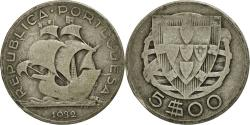 World Coins - Coin, Portugal, 5 Escudos, 1932, , Silver, KM:581