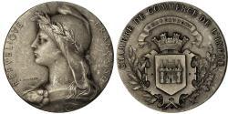 World Coins - France, Medal, Chambre de Commerce de l'Indre, Châteauroux, Roty,