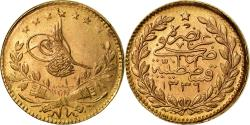 Ancient Coins - Coin, Turkey, Muhammad VI, 25 Kurush, 1917, Qustantiniyah, , Gold