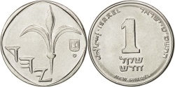 World Coins - ISRAEL, New Sheqel, 2009, KM #160a, , Nickel Plated Steel, 17.97, 3.50