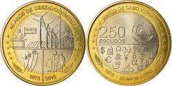 World Coins - Coin, Cape Verde, 250 Escudos, 2015, 40 ans de l'Indépendance,