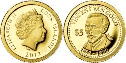 World Coins - Coin, Cook Islands, 5 Dollars, 2013, Franklin Mint, Vincent Van Gogh,