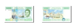 World Coins - Central African States, 2000 Francs, 2002, KM:203Eh, Undated, UNC(65-70)