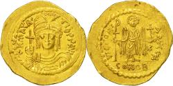 Coin, Maurice Tiberius, Solidus, Constantinople, AU(55-58), Gold, Sear:478