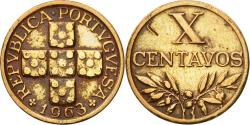 World Coins - Coin, Portugal, 10 Centavos, 1963, , Bronze, KM:583