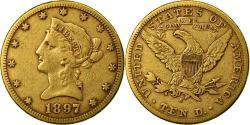 Ancient Coins - Coin, United States, Coronet Head, $10, Eagle, 1897, U.S. Mint, San Francisco
